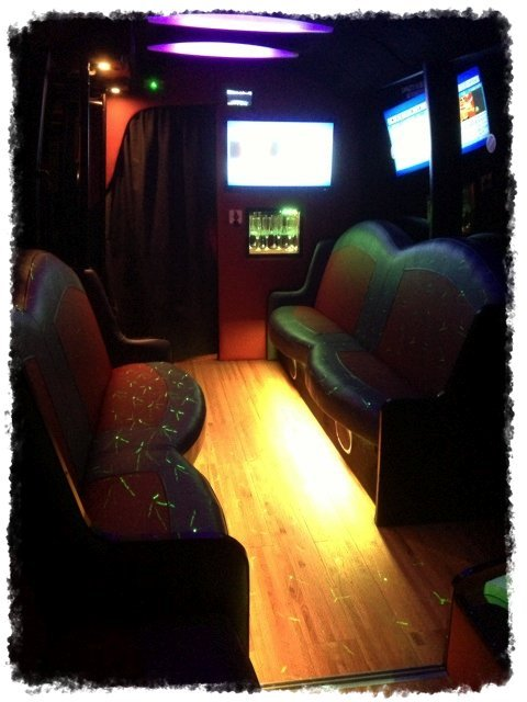 interior of a Party bus limo