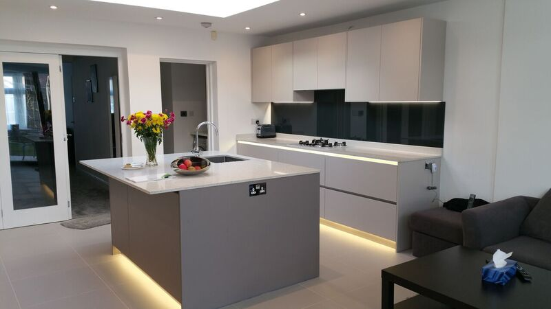 We install designer kitchens for properties in Staines