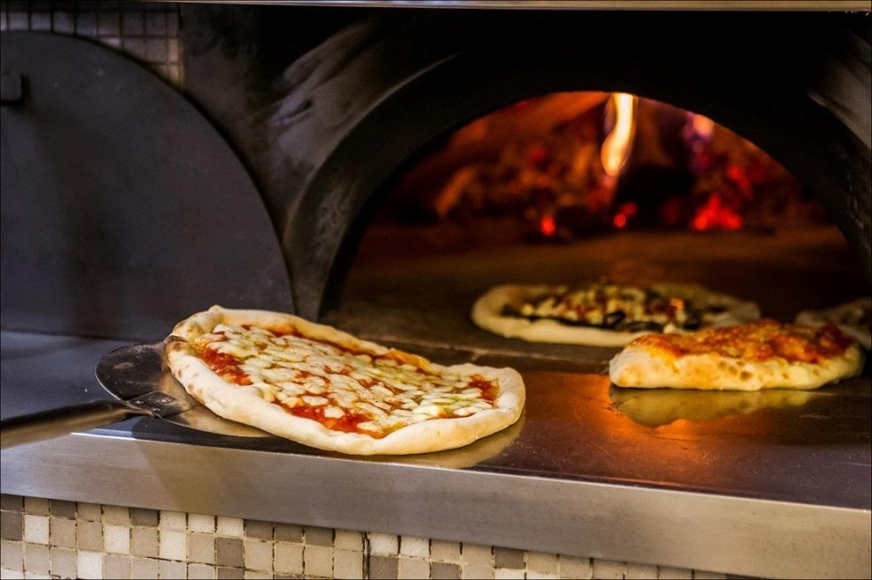 PIZZAS BAKED IN WOOD-FIRED OVEN