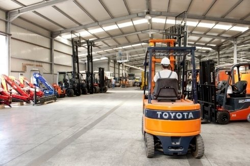 muletto trasportatore Toyota