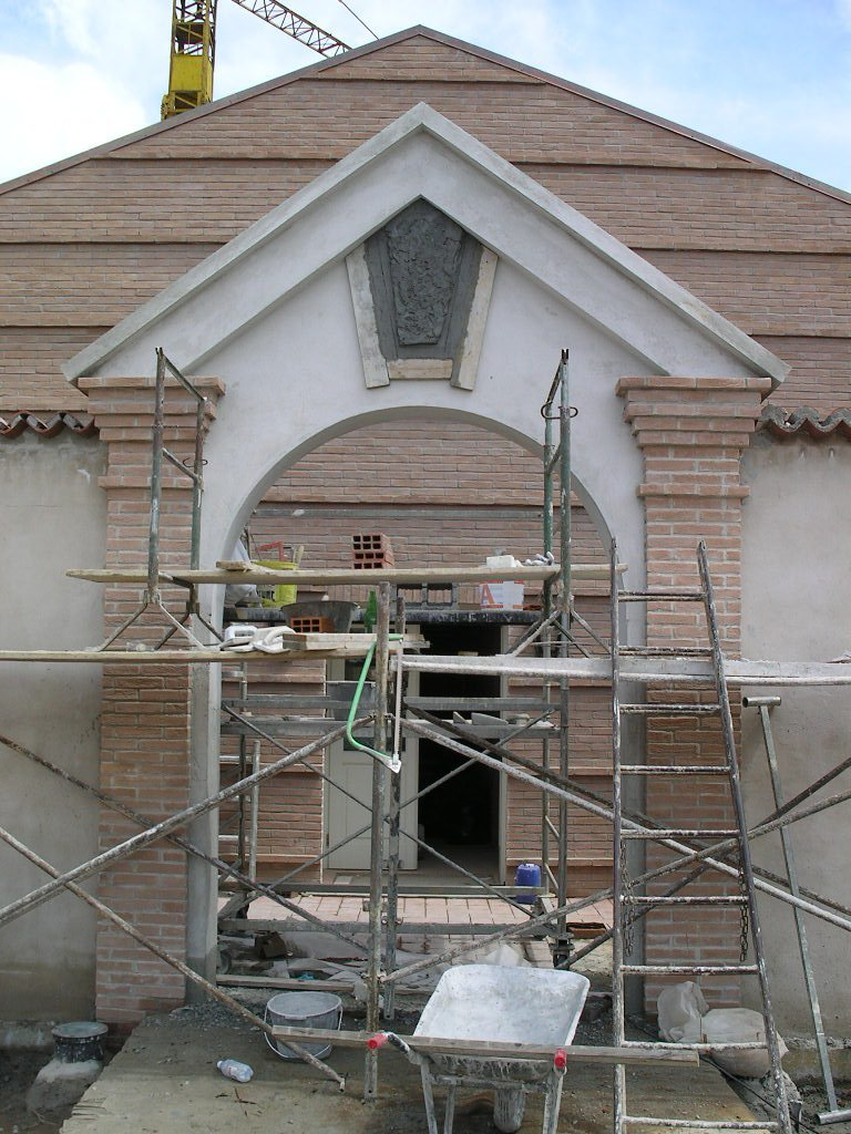 ristrutturazione di una facciata di un edificio