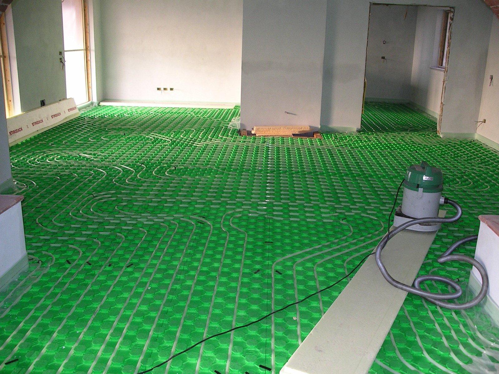 un impianto di riscaldamento a pavimento