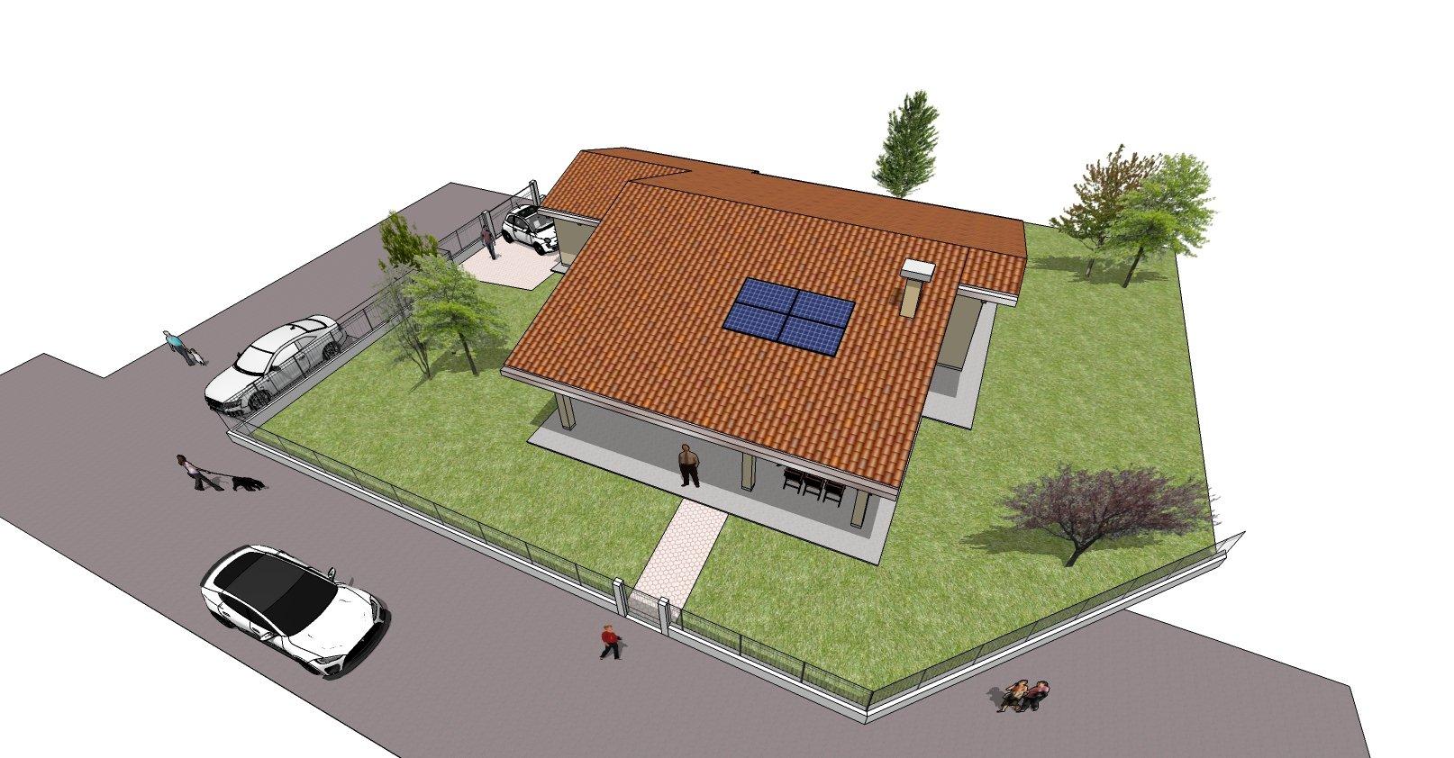 disegno bozza casa - panoramica dall`alto