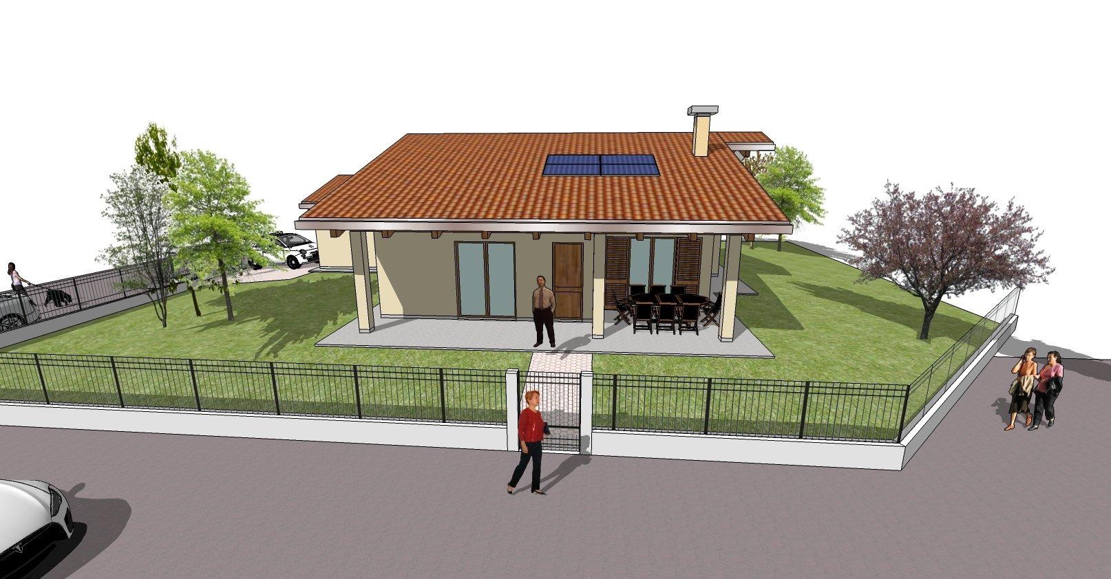 disegno bozza casa - entrata principale