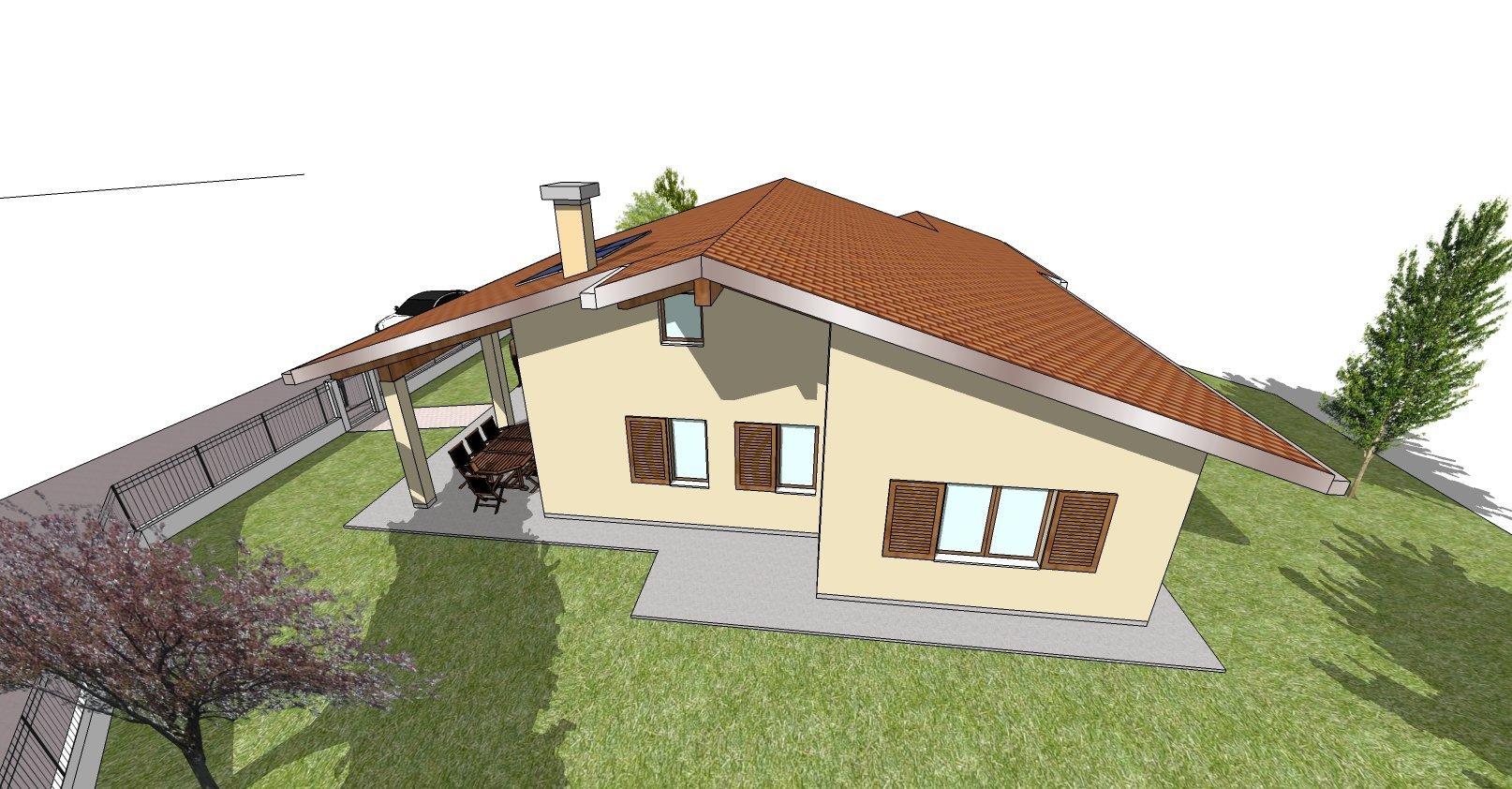 disegno bozza casa  - vista fronale