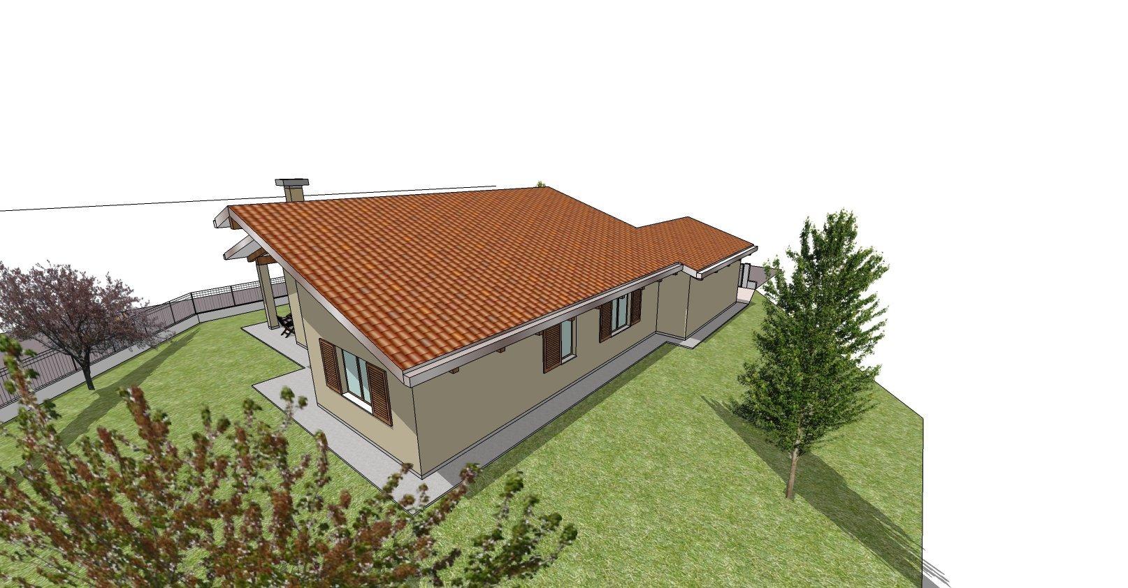 disegno bozza casa - area giardino