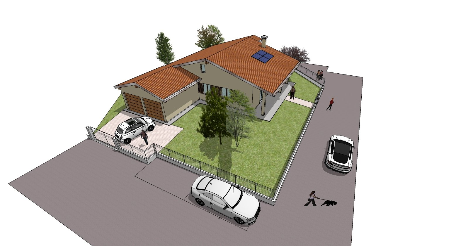disegno bozza casa - area parcheggio
