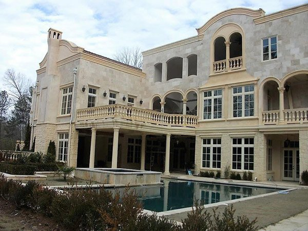 backside of mansion