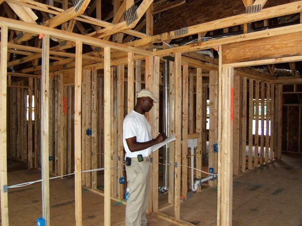 Paris Pressley inside house being built