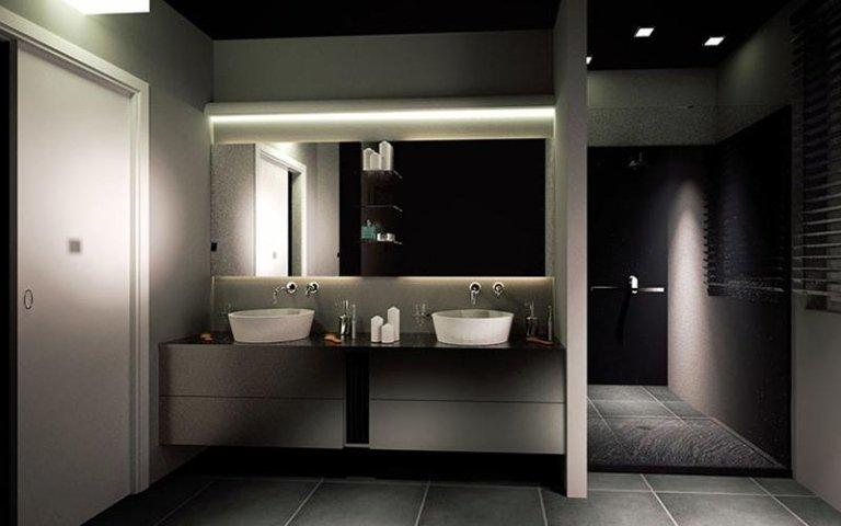 bagno con doppio lavabo modena