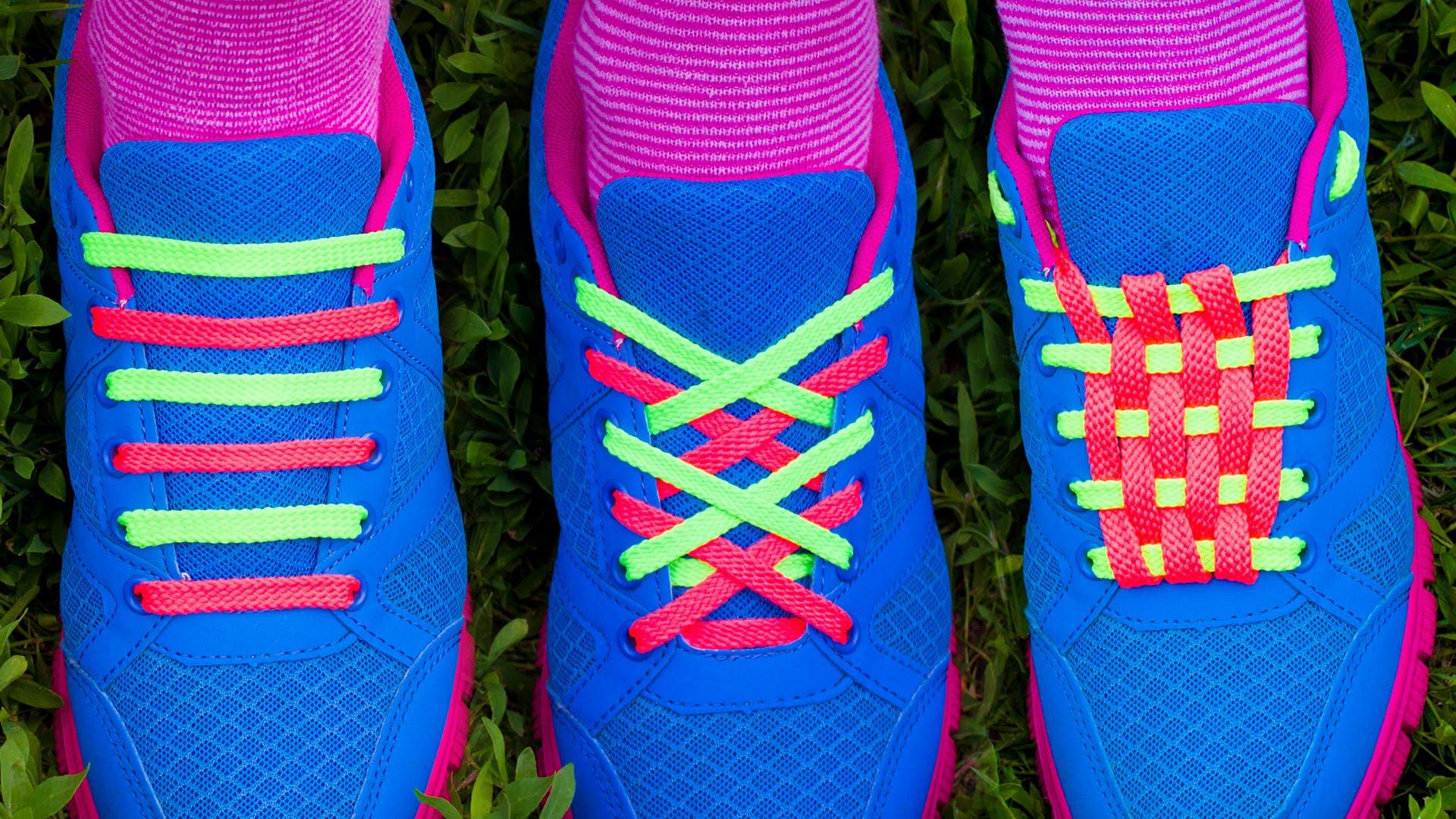 Double Color Shoe Lacing