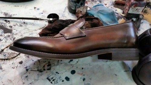 delle scarpe di pelle fatte a mano Diego Anastasi