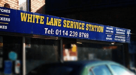 White Lane Service station car mechanics