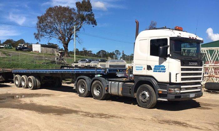 crane hire truck
