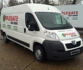 Well-equipped van