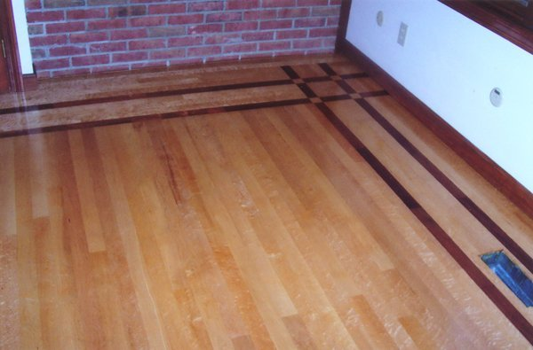 Bird's Eye Maple with Brazilian Border Wood Floor Installation Manchester & Concord, NH