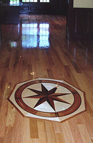 Custom Medallion Wood Floor Installation Manchester & Concord, NH