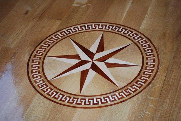 Custom Medallion Wood Floor Installation Manchester & Concord, NH
