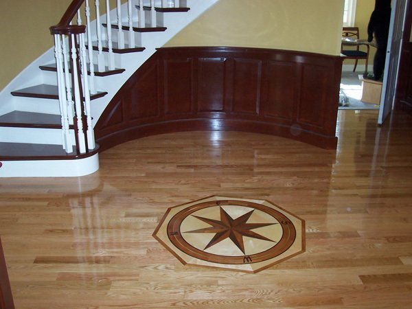 Custom with Medallion Wood Floor Installation Manchester & Concord, NH