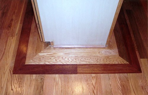 Red Oak with Brazilian Border Wood Floor Installation Manchester & Concord, NH