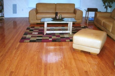 Red Oak with Cherry Stain Hardwood Floors Manchester & Concord, NH