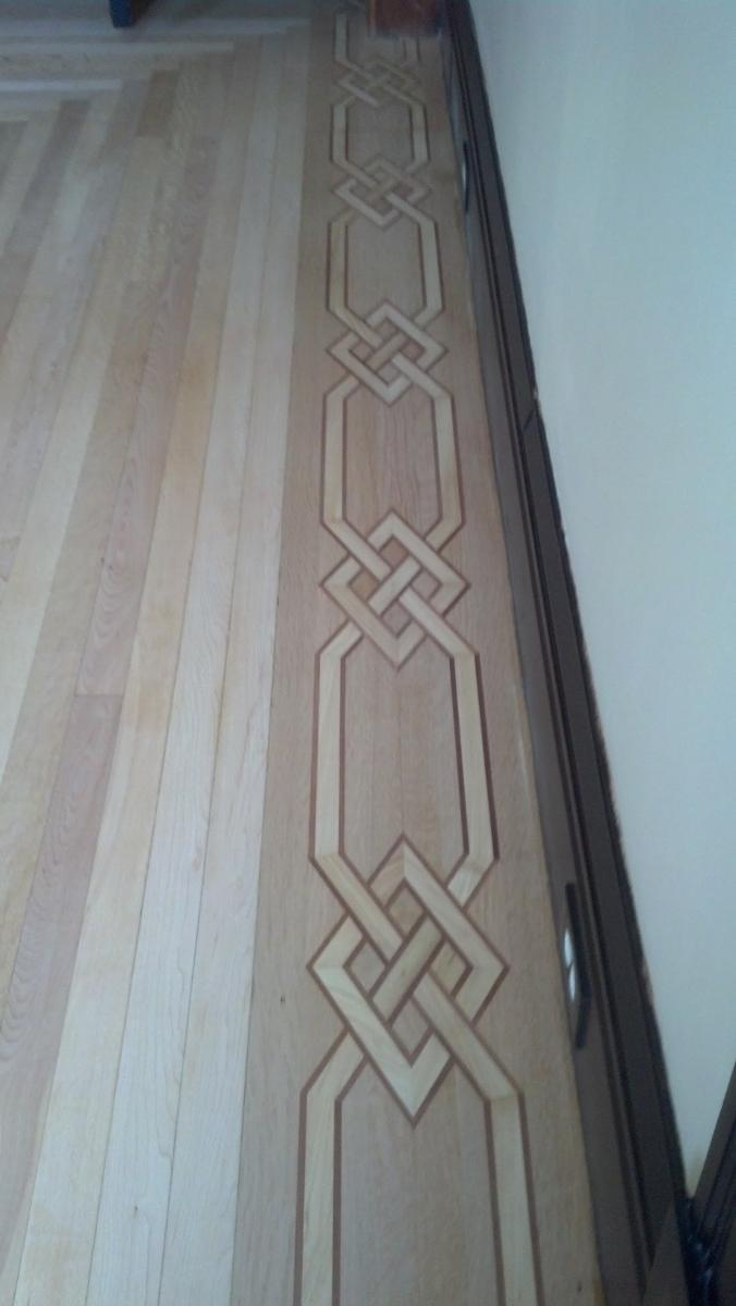 Custom Borders Wood Floor Installation Manchester & Concord, NH