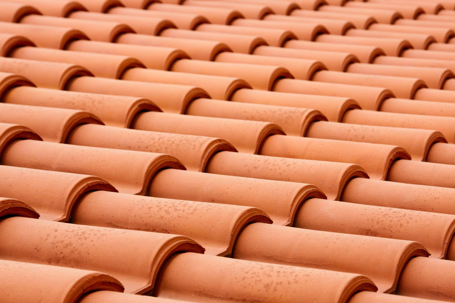 delle tegole di un tetto
