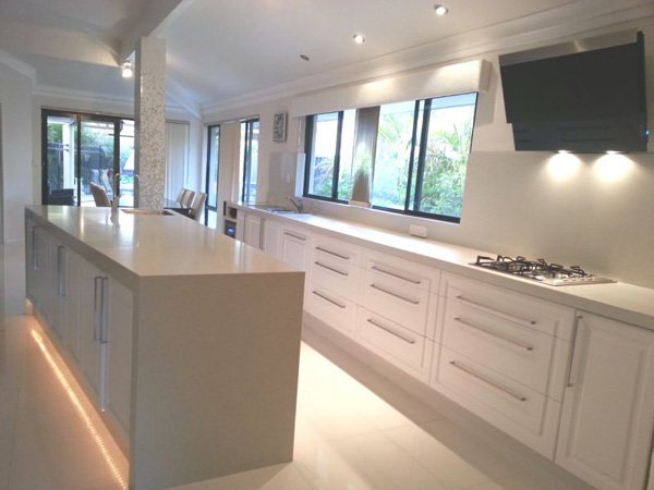 kitchen after renovation with granite countertops
