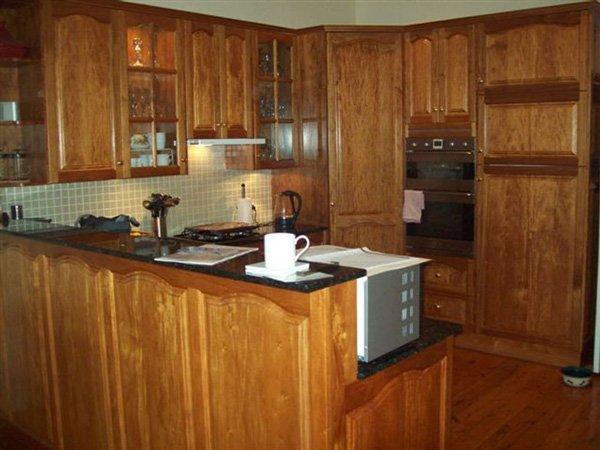 wood kitchen before renovation