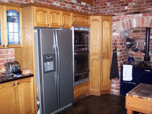 kitchen with wood cupboards