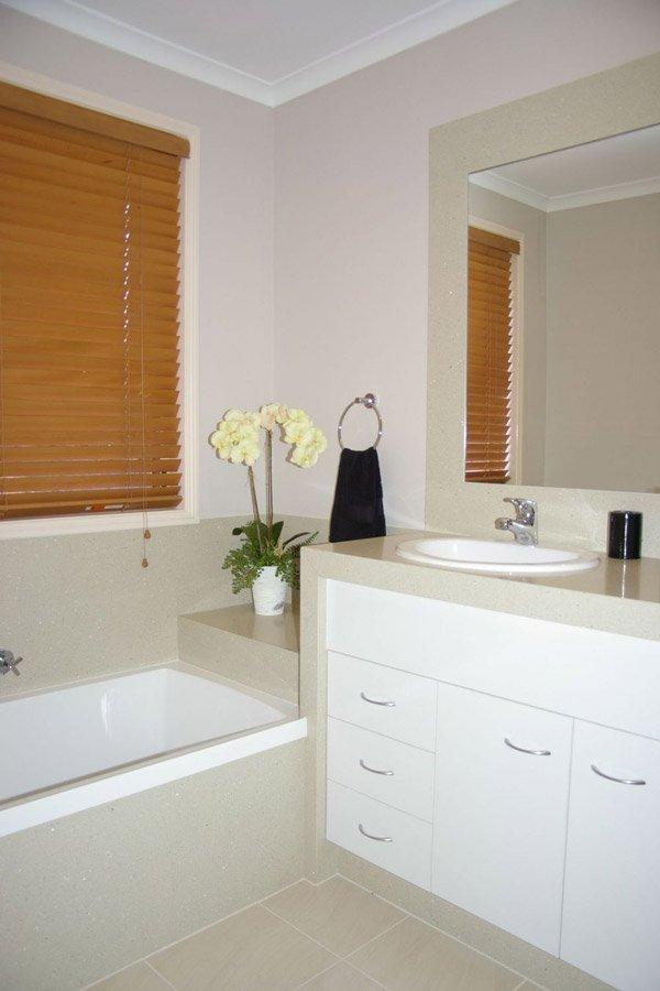 bathroom with granite countertops