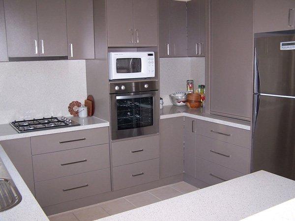 grey kitchen cupboards