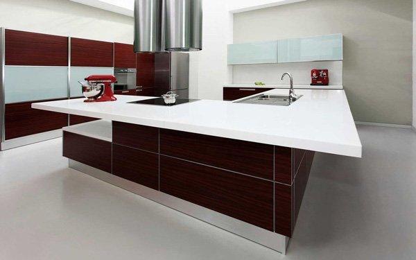 modern kitchen with granite counter