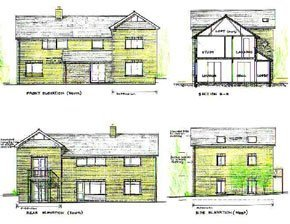 Architectural design of a 2-storey side extension for a house in Bromley, Kent