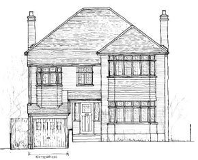 Architectural design for a side extension in Bromley, Kent