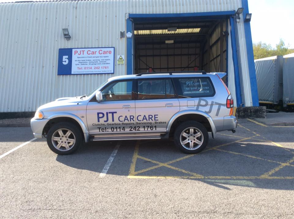 A vehicle at PJT Car Care's garage in Sheffield