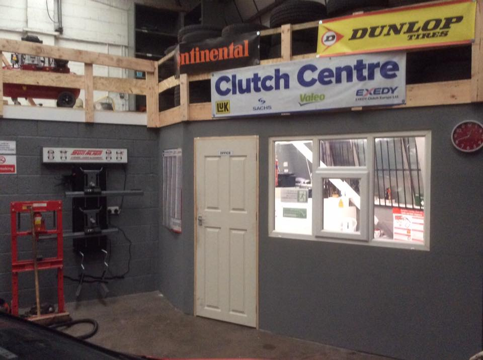 Our clutch centre at PJT Car Care's garage in Sheffield