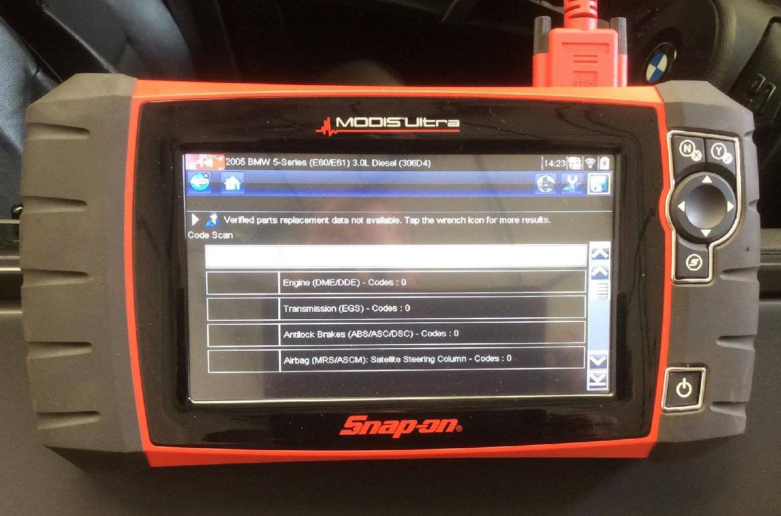 Vehicle diagnostics at PJT Car Care's garage in Sheffield