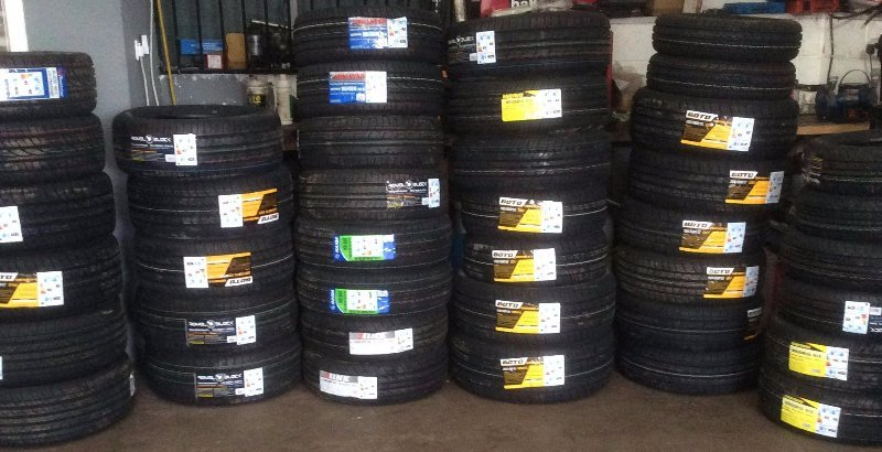 Tyres at PJT Car Care's garage in Sheffield