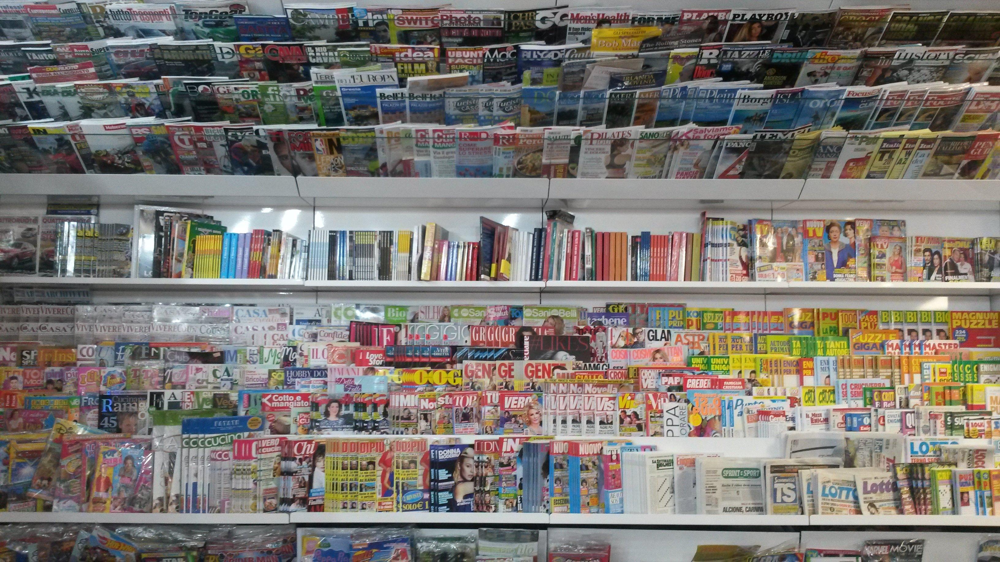 riviste in esposizione