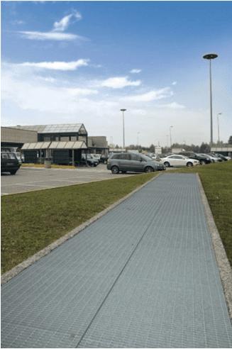 griglia per areazione parcheggi