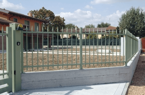 dettaglio cancello recinzione residenziale sirio