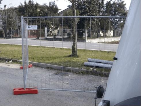 recinzione mobile da cantiere
