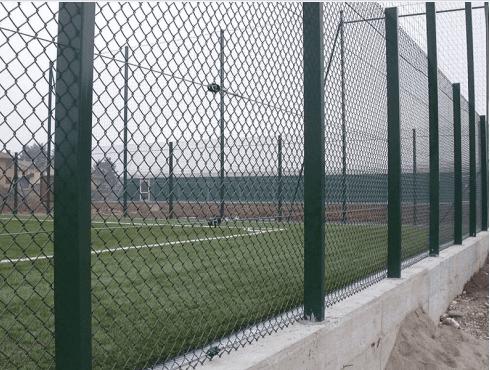 rete romboidale per impianti sportivi