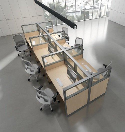 scrivanie con posti a sedere separati