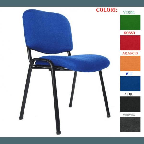 sedia di colore blu con cartella colore