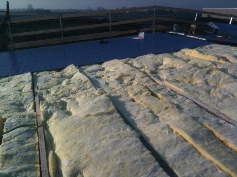 Realizzazione copertura in lana di roccia