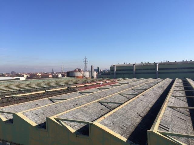 Rimozione coperture industriali in fibrocemento