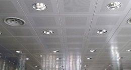 illuminazione sul soffitto e impianti antincendio