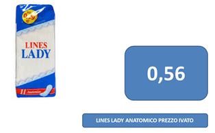 lines lady a 0,56 €